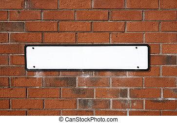 Blank street sign.