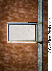 Blank Street Sign For Your Text