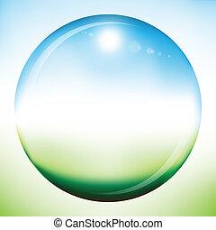 Blank summer sphere