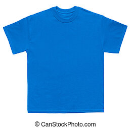 Blank T Shirt Color Sky Blue Template On White Background