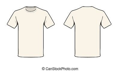 T-shirt template - Blank T-shirt template. Solid color easy...