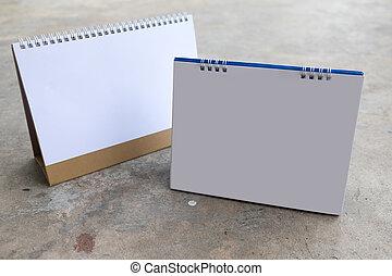 Blank table calendar