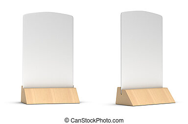 blank table tent 3d render table card set mockup for design uses