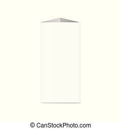 Blank table tent verticalcard 3d realistic vector mockup illustration isolated.
