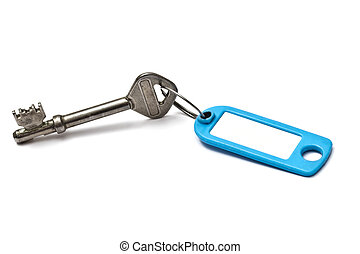Blank tag and old key