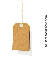 Blank tag label isolated on white background
