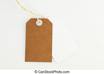 Blank tag label on white background