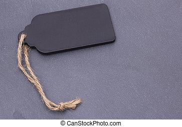 Blank tag on a slate