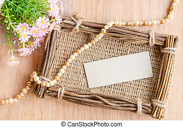 Blank Tag on sack photo frame.