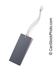 blank tag tied with string