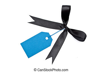 Blank tag with bow