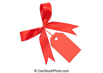 Blank tag with red bow
