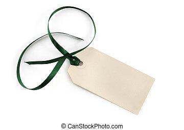 Blank Tag with Ribbon