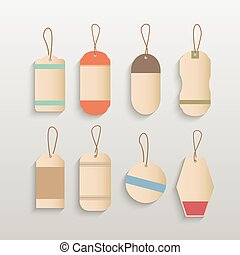 Blank Tags Illustration
