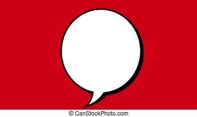 blank talk box, Video animation, HD 1080