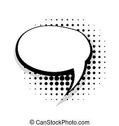 Blank template comic speech round bubble
