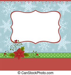 Blank template for Christmas greeti