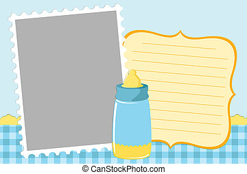 Blank template for greetings card - Blank template for...