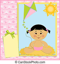 Blank template for greetings card - Blank template for baby'...