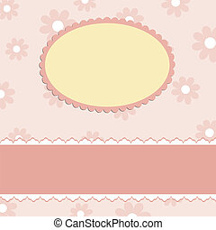 Blank template for greetings card