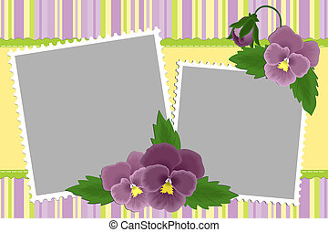 Blank template for photo frame