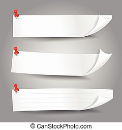 Blank template paper banner with color corner
