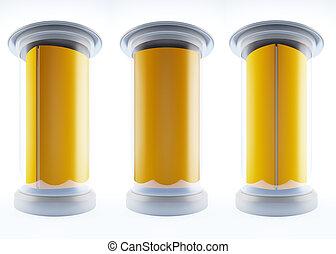 blank template pillars. - A 3d illustration of blank...
