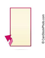 blank template with arrow