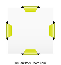 vector illustration drawing four square template with corn cob lamp