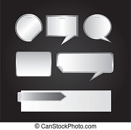 thought bubble - blank thought bubble over gray background. ...