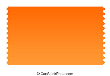 Blank ticket - Blank serrated ticket isolated on white...