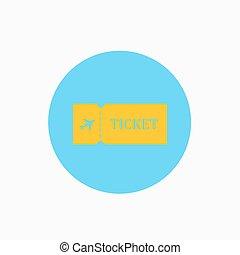 Blank ticket plane icon.