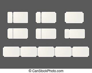 Blank ticket templates