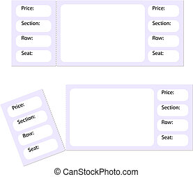 blank tickets and a torn stub isolated on white, vector...