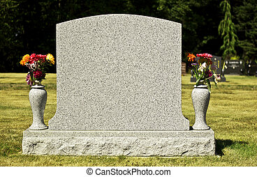 Blank Tombstone - A blank tombstone is shown so that any...