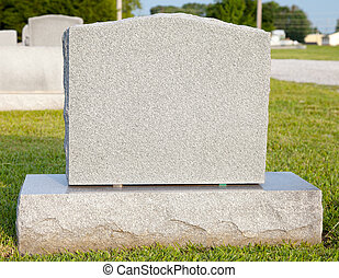 Blank Tombstone - Close-up of a blank tombstone with copy...