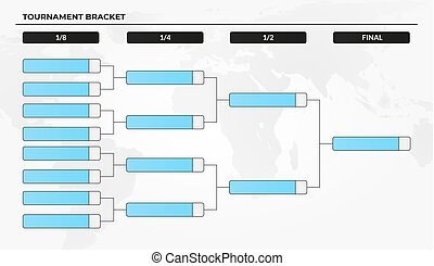 Blank tournament bracket template for world cup...