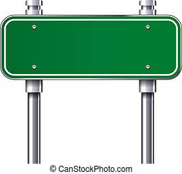 Blank traffic road sign