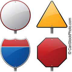 Blank Traffic Signs - Traffic sign group.