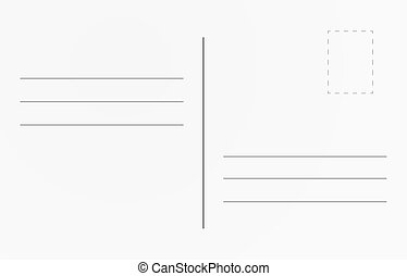 Blank travel card illustration