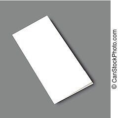 Blank Brochure Template Mockup Blank Brochure Magazine Vector - Blank tri fold brochure template