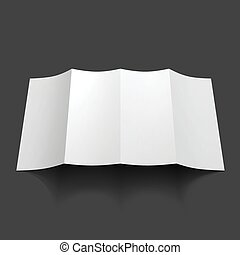 Blank trifold paper brochure mockup.