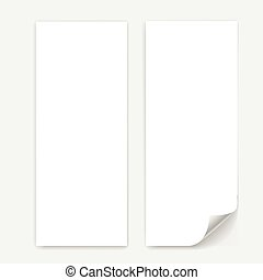 Blank trifold paper sheet vector