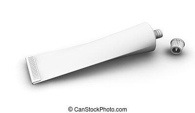 Blank tube - 3D render of a blank tube