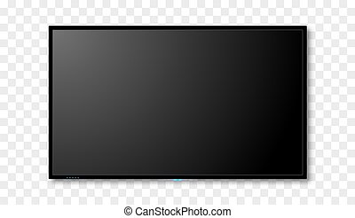 Blank tv screen vector design. Digital wide television concept. Vector flat led or lcd screen mockup