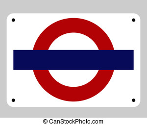Blank underground tube sign - Blank underground tube subway...