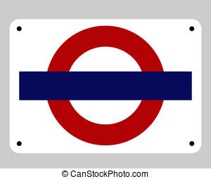 Blank underground tube sign - Blank underground tube subway...