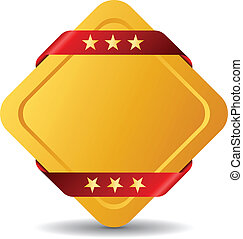 Blank vector award symbol