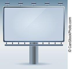 Blank vector billboard advertisement, empty screen