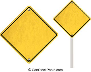 Blank Vector Road Signs